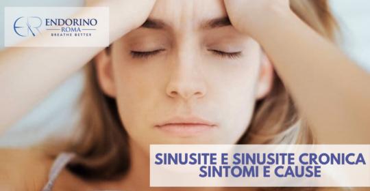 Sinusite e sinusite cronica: sintomi e cause
